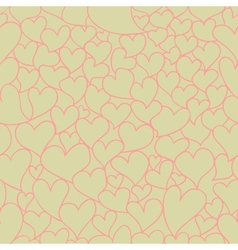Retro Valentine seamless pattern vector