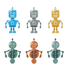 Robot icons vector