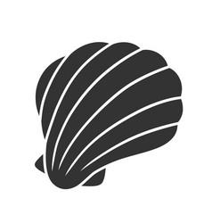 sea shell glyph icon marine mollusk shell vector image
