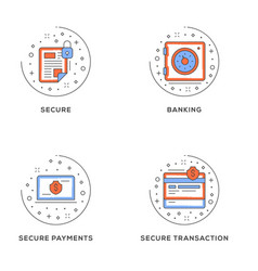 Secure banking secure payments secure transaction vector