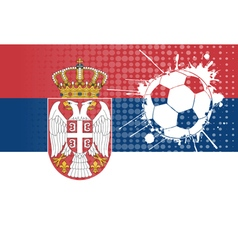 Serbian football vector image