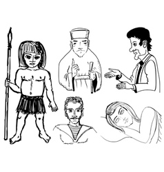 set of of humans vector image