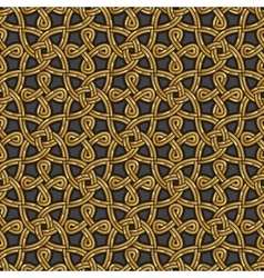 Shiny gold Celtic seamless pattern vector
