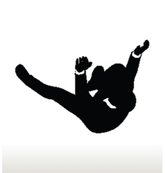 silhouette of businessman falling vector image