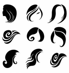 Silhouettes of a girl vector