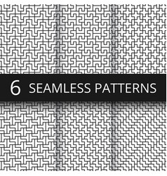 simple geometric abstract seamless patterns vector image