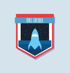 space and universe patches design vector image