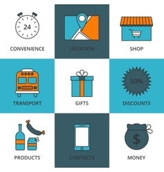 Stock linear icon store vector