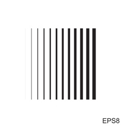 Striped square icon vector