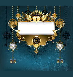 symmetrical steampunk banner vector image