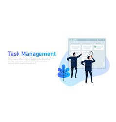 task management project manager business man with vector image
