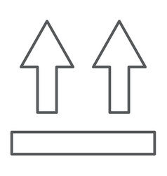 this side up thin line icon packaging and label vector image