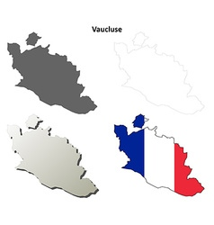 Vaucluse Provence outline map set vector