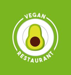 vegetarian food restaurant menu vector image