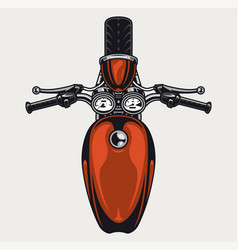 Vintage motorcycle top view colorful concept vector