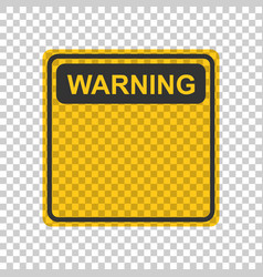 warning caution sign icon in flat style danger vector image