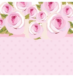 Watercolor pink Rose Flowers bouquet vector