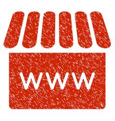 webstore grunge icon vector image