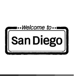 welcome to san diego city design vector image