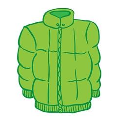 Winter jacket vector