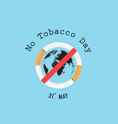 World map icon and quit tobacco signworld no vector