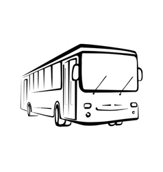 bus sketch isolated oi black outlines vector image vector image