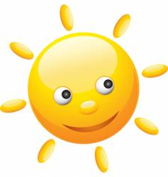cute sun vector image vector image