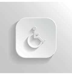 Disabled icon - white app button vector image vector image