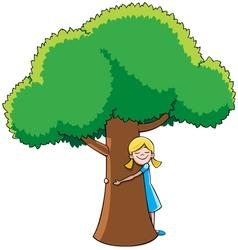 Tree Hugger vector image vector image
