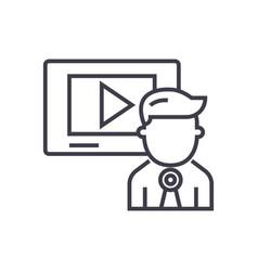 video marketingvideo channelnews line vector image vector image
