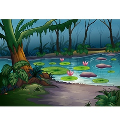 A river in a beautiful nature vector image vector image