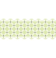 Abstract damask swirls horizontal seamless pattern vector image