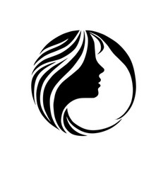 beautiful girl face fashion icon vector image