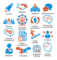 Business management icons pack 01 vector