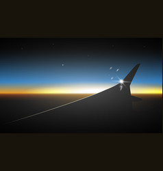 flying plane wing vector image vector image