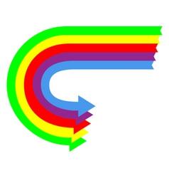 U turn arrows vector