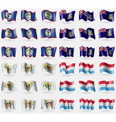 Belize virginislandsuk virginislandsus luxembourg vector