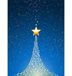 Christmas tree over blue portrait vector image vector image