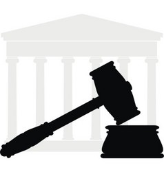 gavel and court vector image vector image