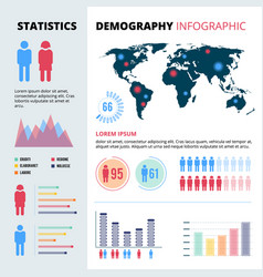 infographic concept design of people population vector image