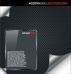 modern grille background vector image vector image