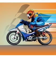 motorcycle racing vector image vector image