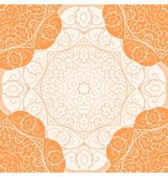 Orange lace seamless pattern vector image