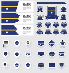SET Nauru vector image