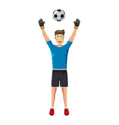 soccer player man icon cartoon style vector image