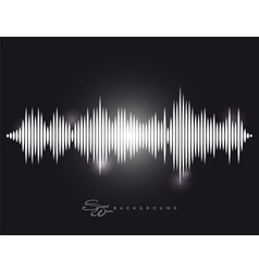 Sound wave background with shining elements vector image