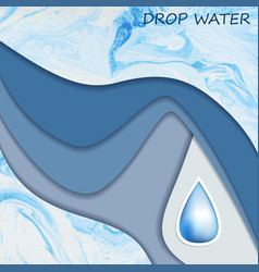 template with drop water for design vector image
