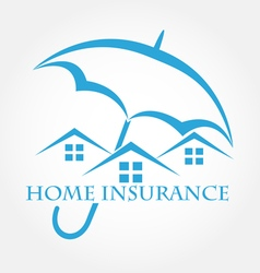 House with umbrella icon Home insurance vector image vector image