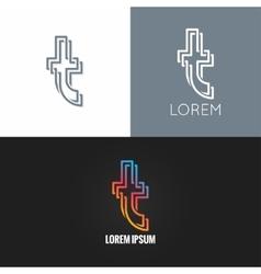 Letter T logo alphabet design icon background vector image vector image