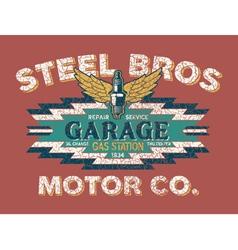 Motor company vintage sign vector image vector image